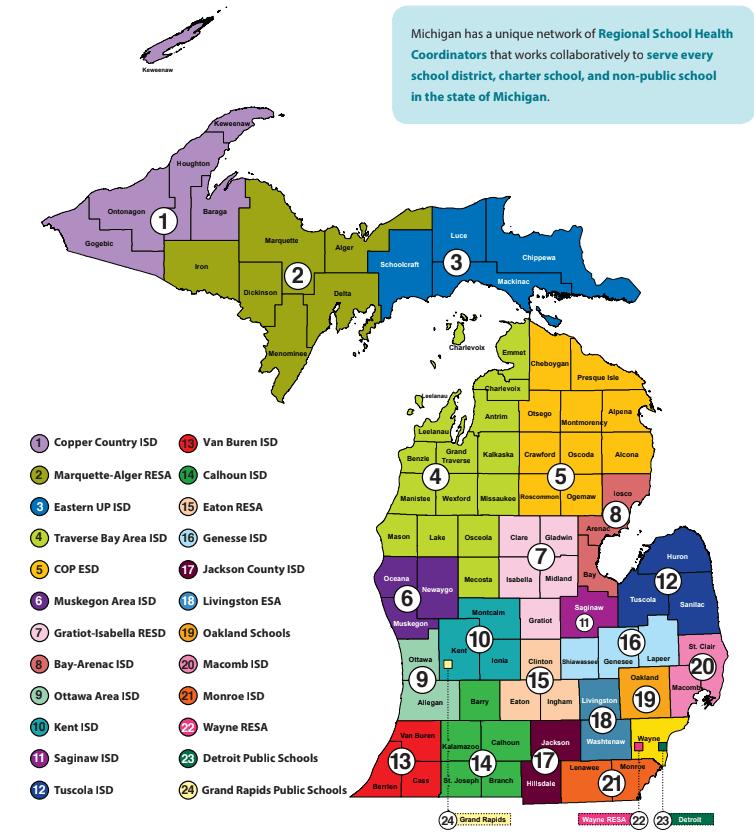 MiSCHA Map & Regions
